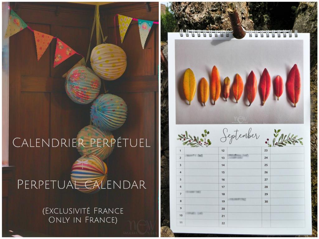 Calendrier perpétuel, calendrier photo, photographie, anniversaires, fêtes, art mural